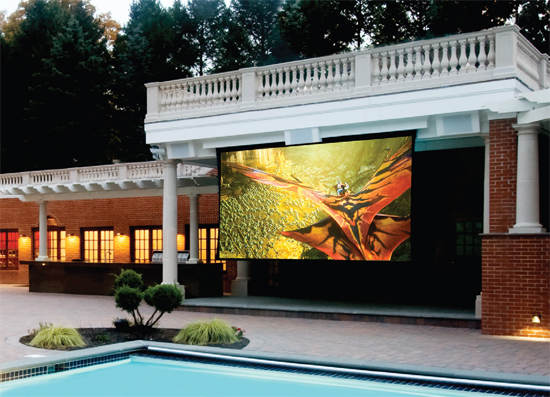 Backyard Theater Ensemble : Outdoor Systems  Integrated Audio Solutions  A Nessit Company